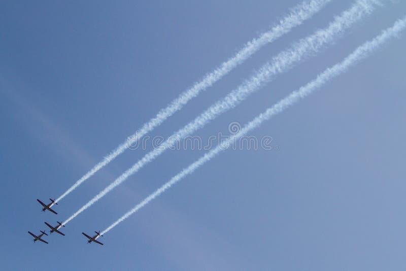 Het aerobatic team van Jupiter royalty-vrije stock fotografie