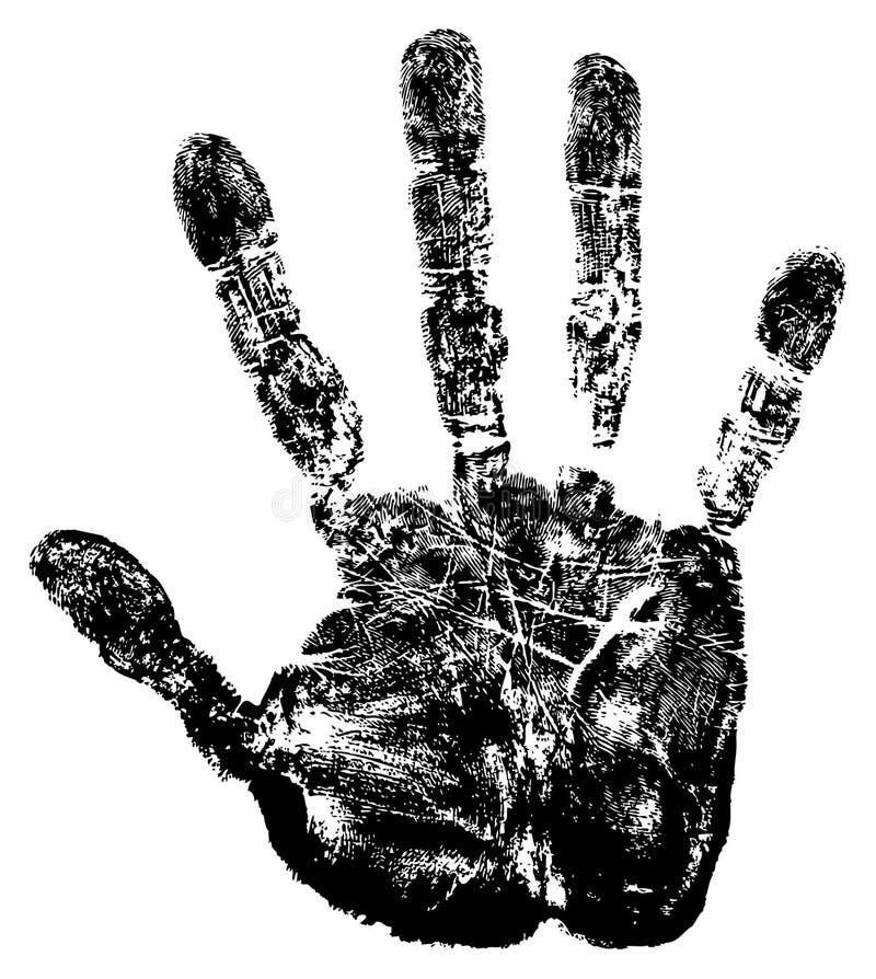 Het af:drukken van de hand. royalty-vrije illustratie