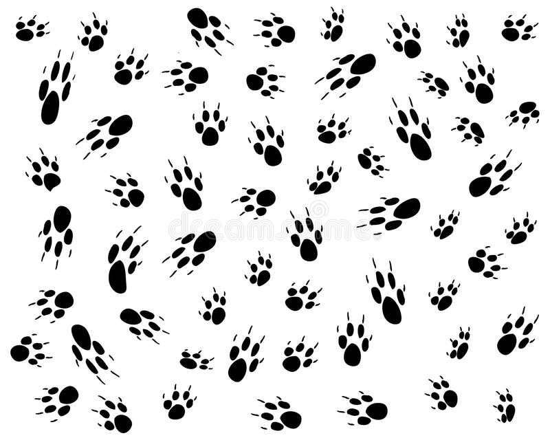 Het af:drukken van de hond vector illustratie
