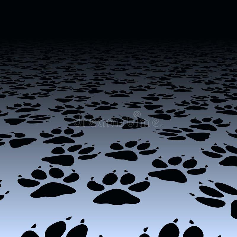 Het af:drukken van de hond stock illustratie