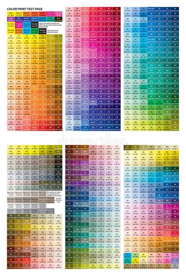 Het af:drukken van de kleur testpagina vector illustratie