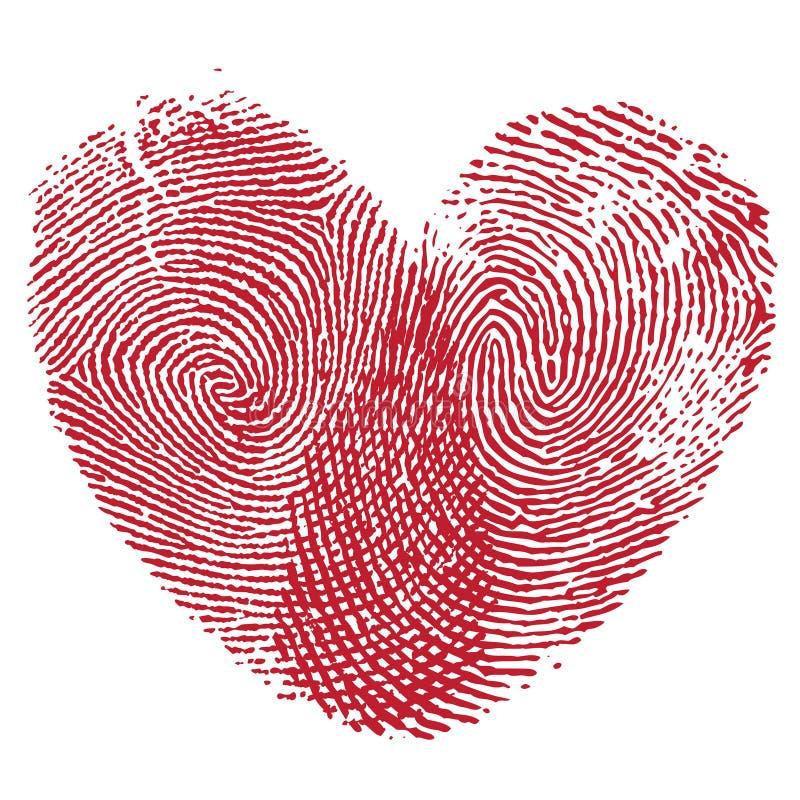 Het af:drukken van de lip hart royalty-vrije illustratie