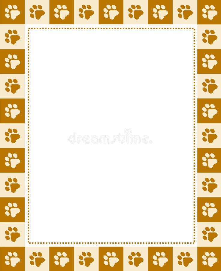 Het af:drukken van de poot frame stock illustratie