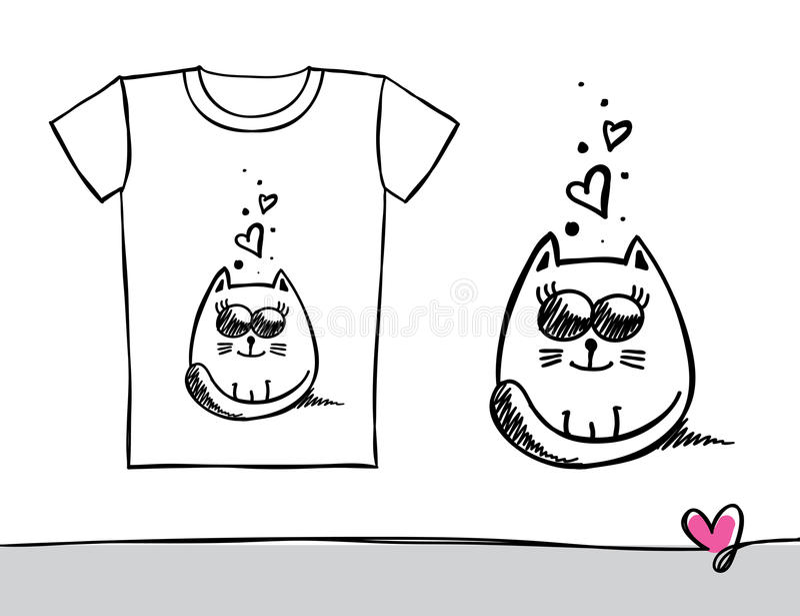Het af:drukken van de t-shirt stock illustratie