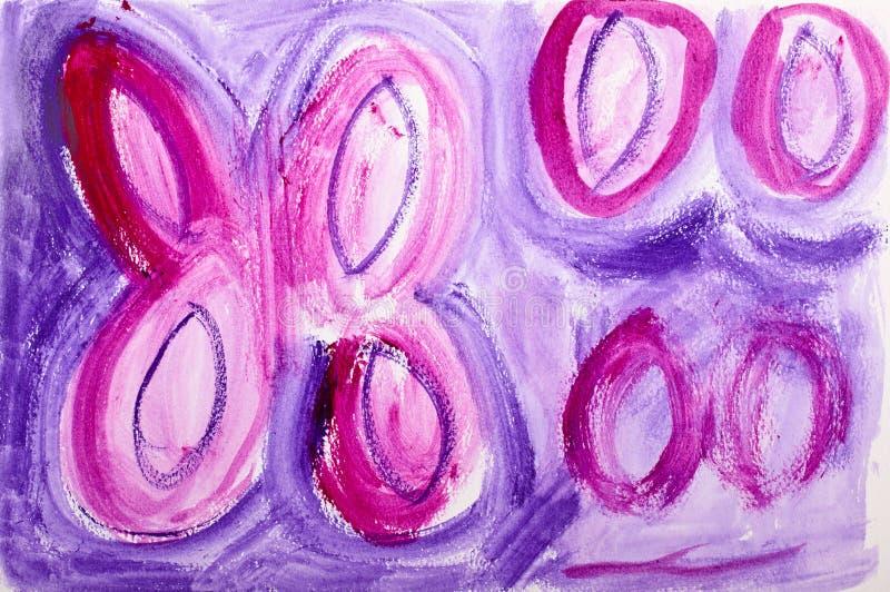 Het af:drukken van de vlinder het schilderen royalty-vrije stock afbeeldingen