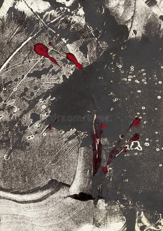 Het af:drukken van Grunge Grijs vector illustratie