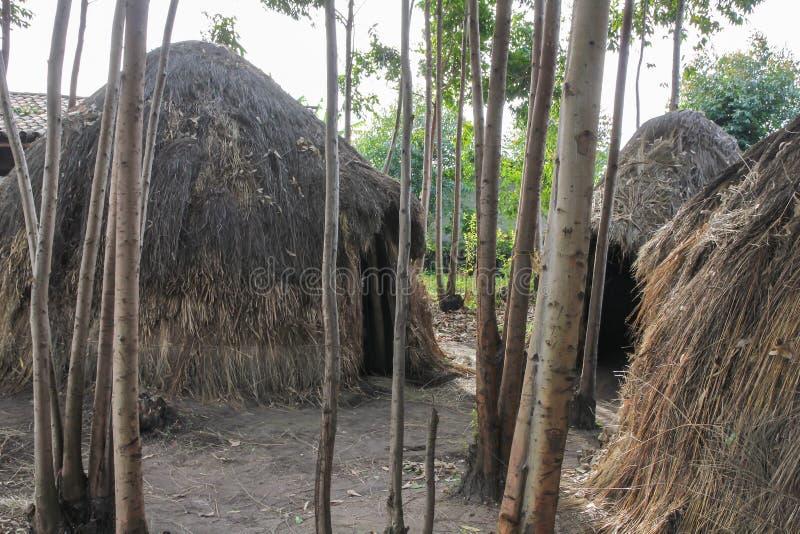 Het Afrikaanse dorp van Burundi royalty-vrije stock foto's