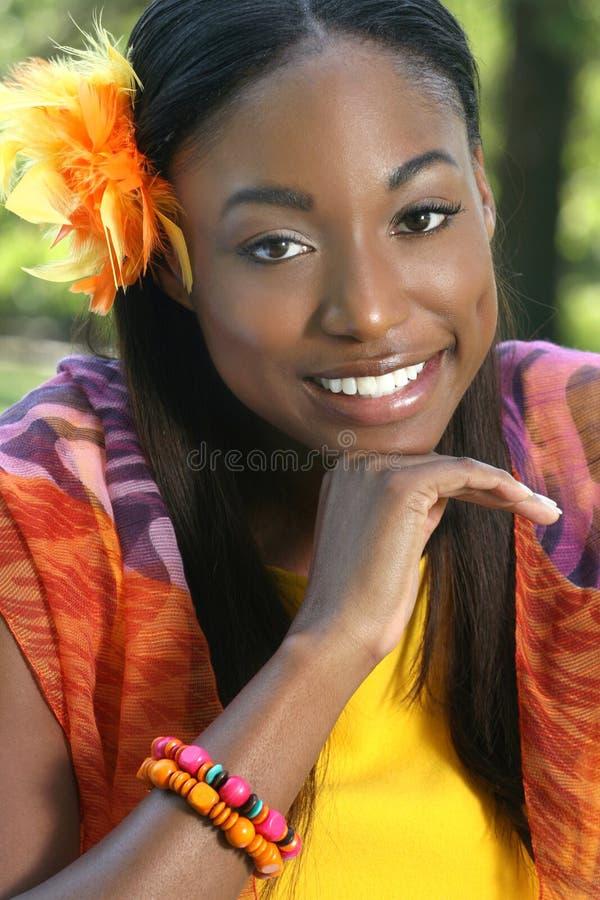 Het Afrikaanse Gezicht van de Vrouw stock foto