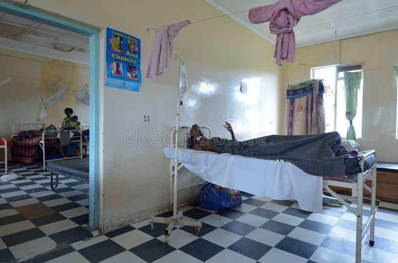 Het Afrikaanse ziekenhuis royalty-vrije stock afbeeldingen