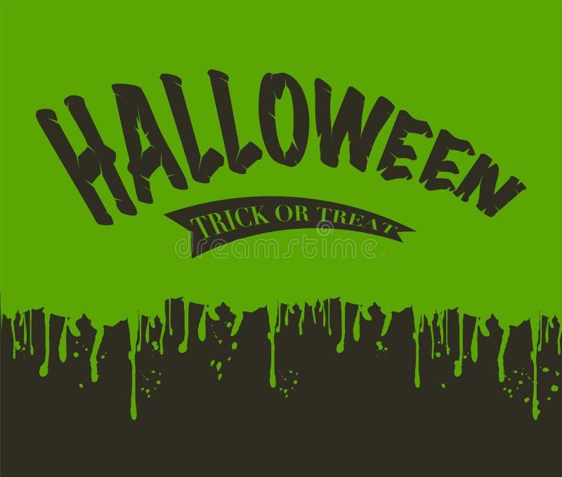 Het afscheiden van Slijm Halloween stock illustratie