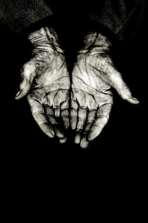 Het afsmeken van handen stock afbeeldingen