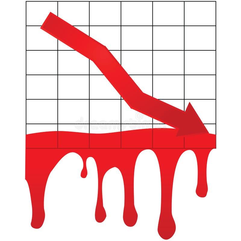 Het aftappen van de markt stock illustratie
