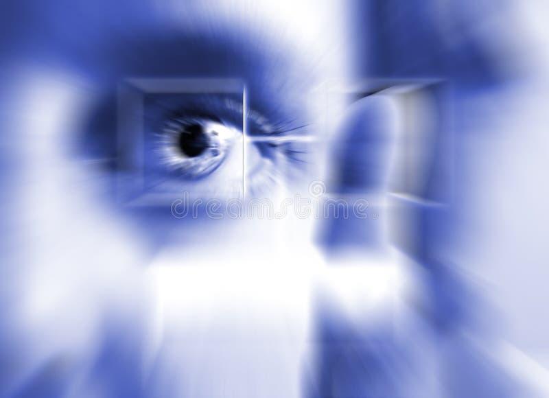 Het Aftasten van de Iris van de vingerafdruk stock afbeeldingen