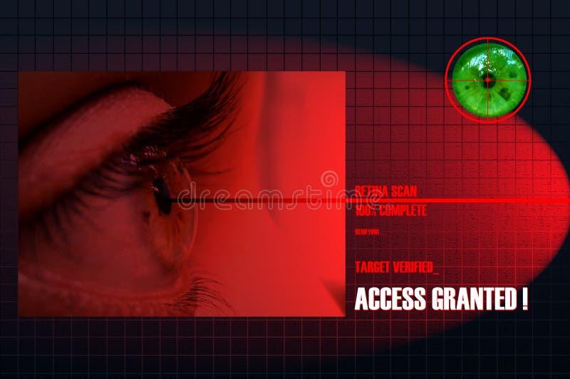 Het Aftasten van de retina royalty-vrije illustratie