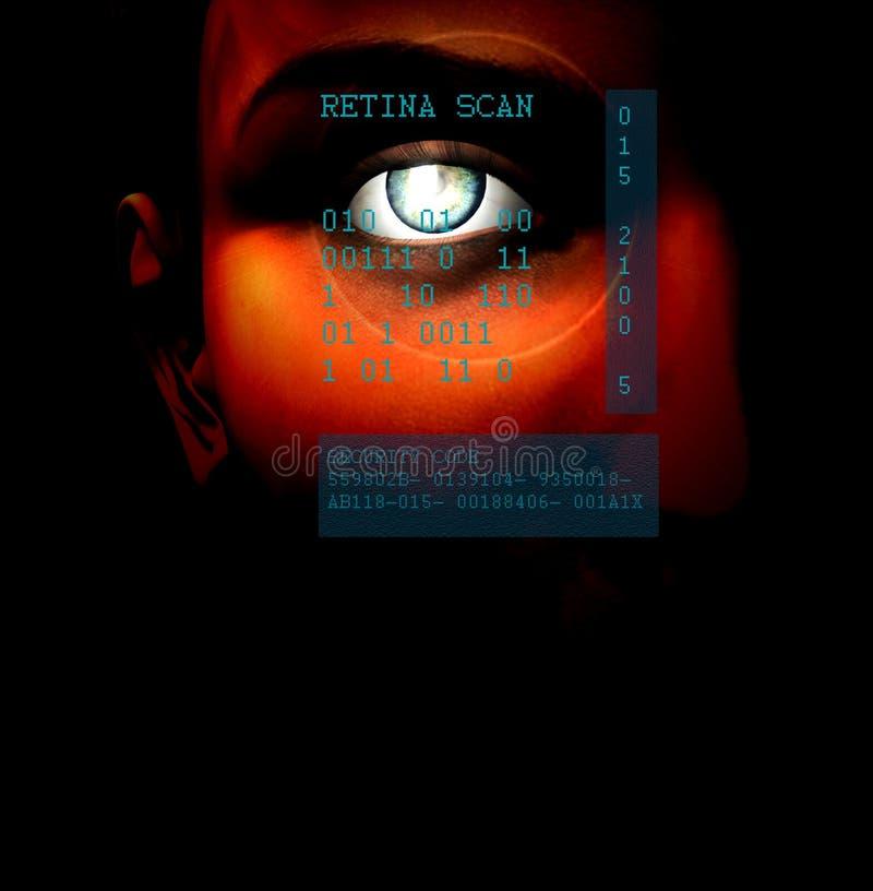 Het Aftasten van de retina stock illustratie