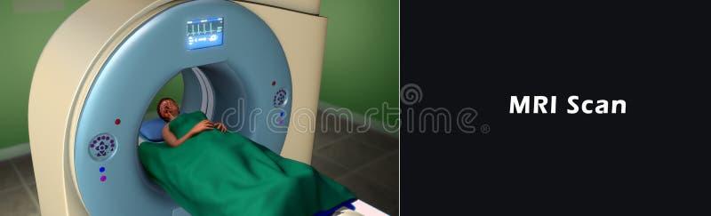 Het Aftasten van het Magnetic resonance imagingsaftasten MRI stock illustratie