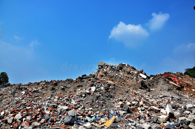 Het afval van de bouw stock afbeeldingen