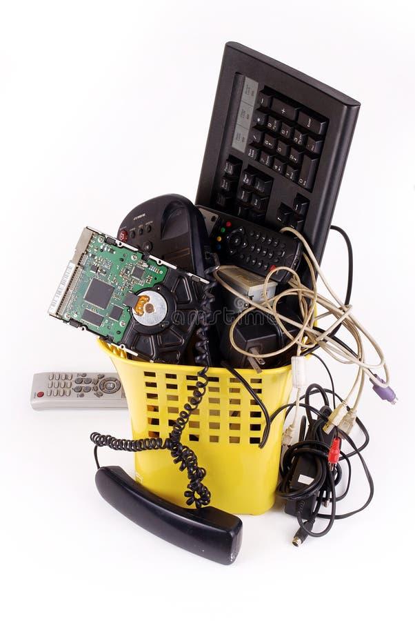 Het afval van de computer stock foto
