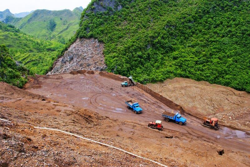 Het afval van de mijnbouw royalty-vrije stock afbeelding