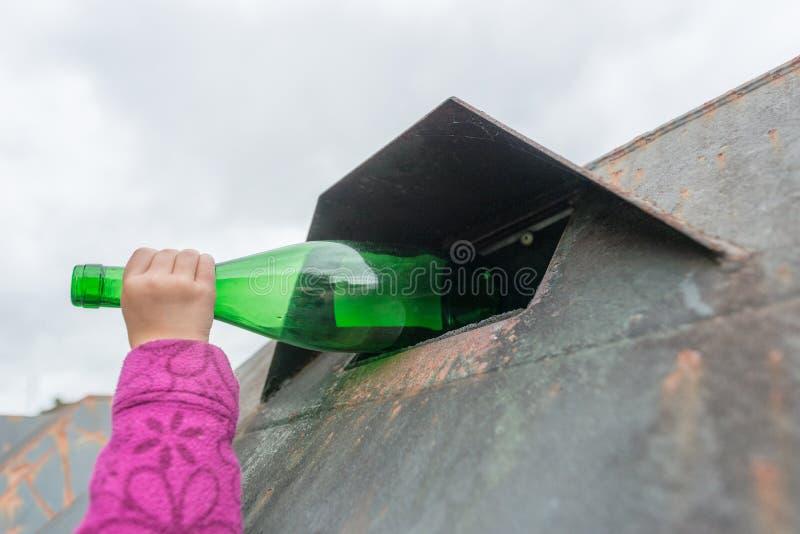 Het afval van het glas stock foto's