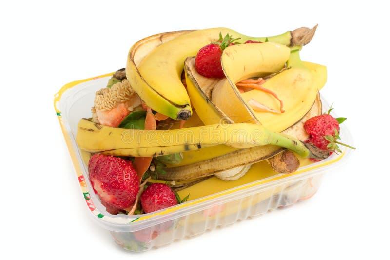 Het afval van het voedsel stock afbeeldingen