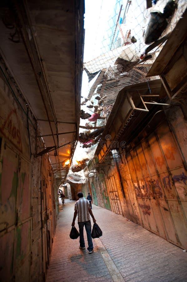 Het Afval van Israëlische Kolonisten in Hebron royalty-vrije stock foto