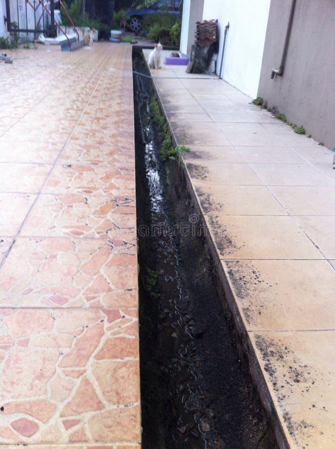 Het Afvoerkanaal van het toegangswater royalty-vrije stock afbeelding