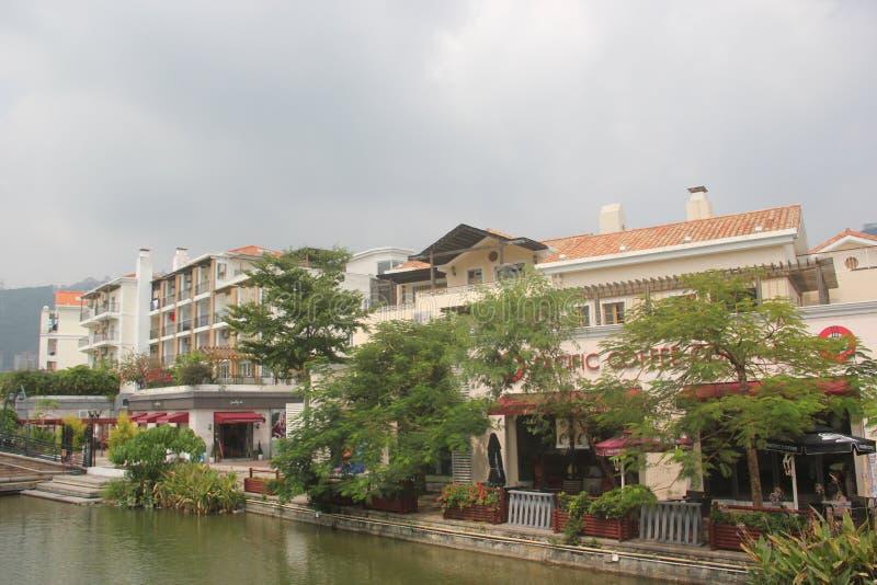 Het afzet het winkelen dorp op de rand van lakeï ¼ ŒSHENZHEN China azië royalty-vrije stock foto's