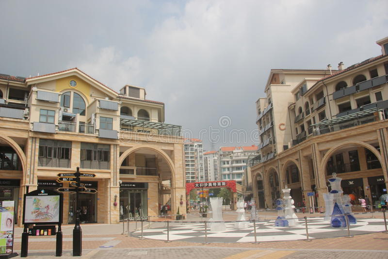 Het afzet het WINKELEN Vierkant in SHENZHEN, CHINA, AZIË royalty-vrije stock afbeeldingen