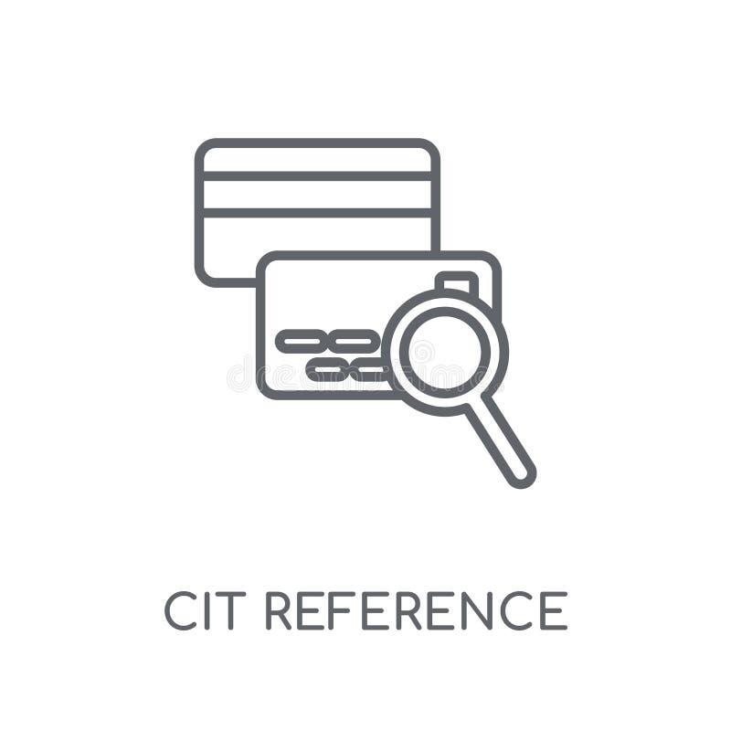 Het agentschap lineair pictogram van de kredietverwijzing Het moderne overzichtskrediet verwijst stock illustratie