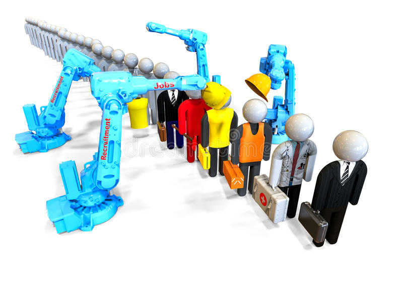 Het agentschap van de baanrekrutering stock illustratie