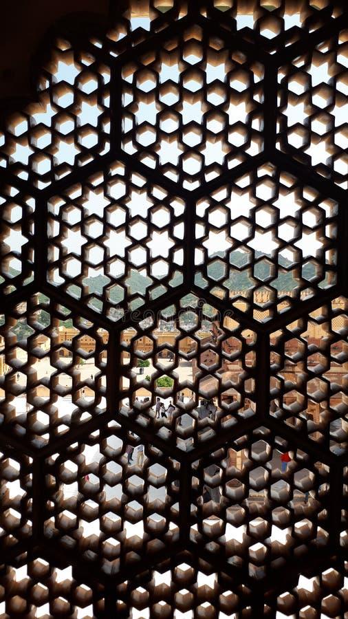 Het Agrafort is een Unesco-plaats van de Werelderfenis in Agra India, Binnenlands Ontwerp, mughal architectuur royalty-vrije stock foto