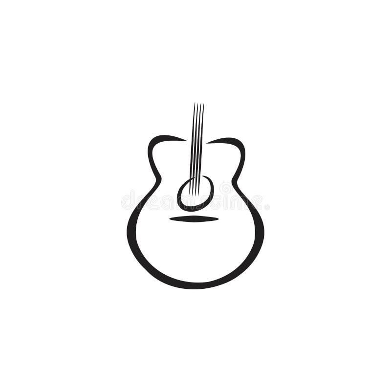 Het akoestische nylon concept van het gitaarembleem vector illustratie