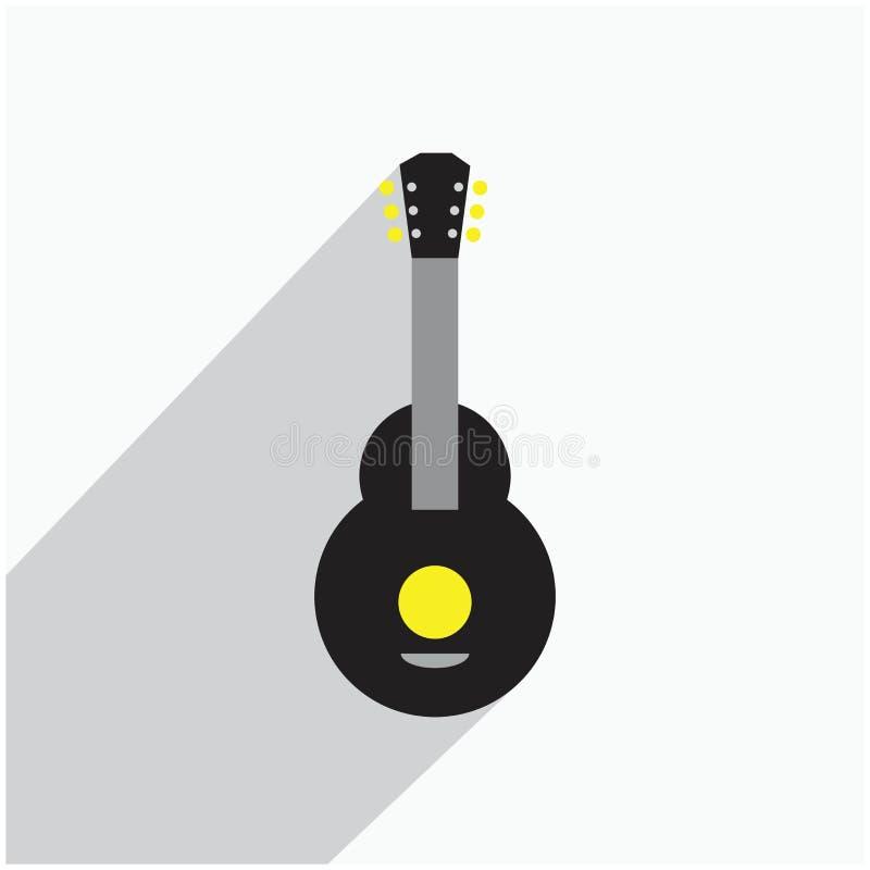 Het akoestische nylon pictogram van gitaarillustraties royalty-vrije illustratie