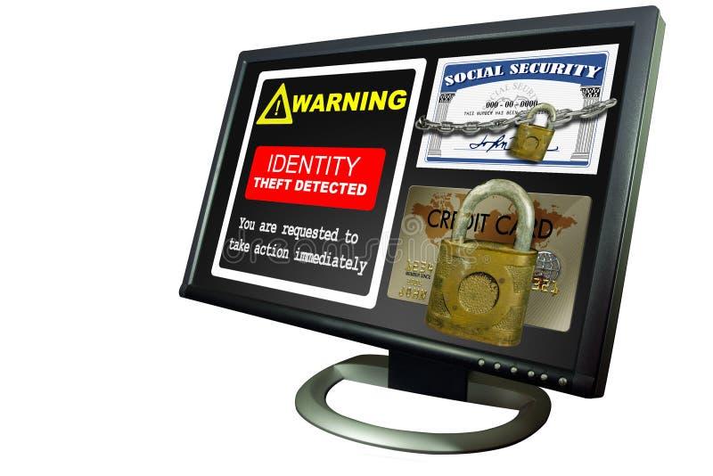Het alarm van de Diefstal van identiteitskaart van de computer stock afbeeldingen