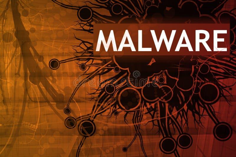 Het Alarm van de Veiligheid van Malware royalty-vrije illustratie