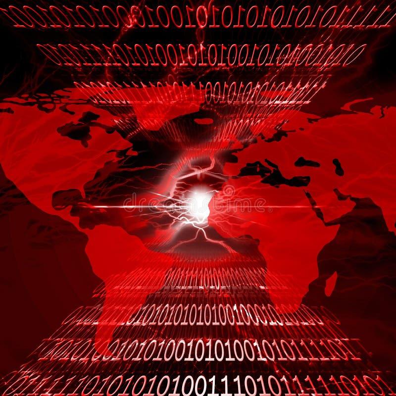 Het alarm van het virus royalty-vrije illustratie