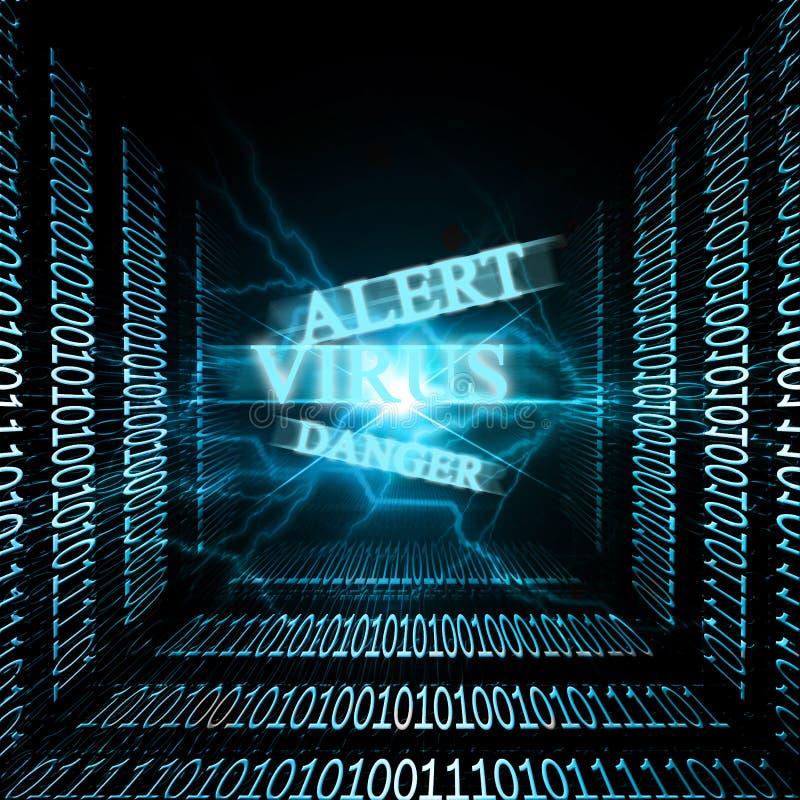 Het alarm van het virus stock illustratie