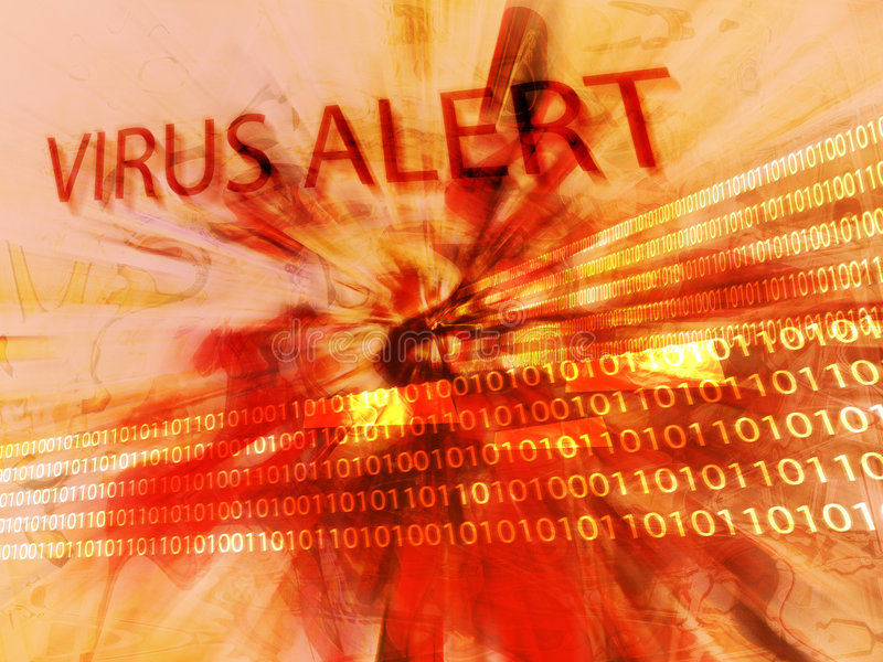 Het alarm van het virus vector illustratie