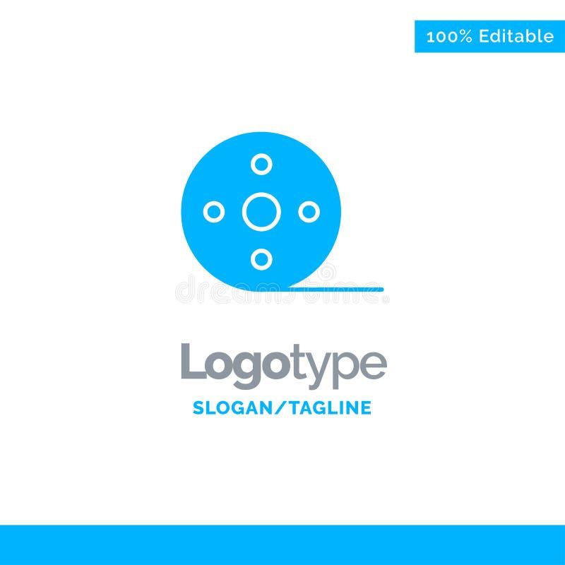 Het album, Film, Film, windt Blauw Stevig Logo Template Plaats voor Tagline royalty-vrije illustratie