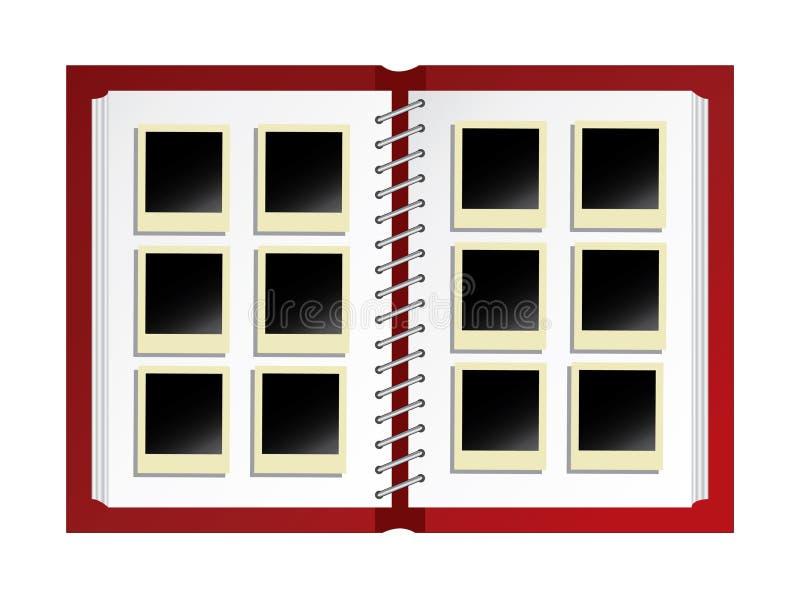 Het album van de foto stock illustratie