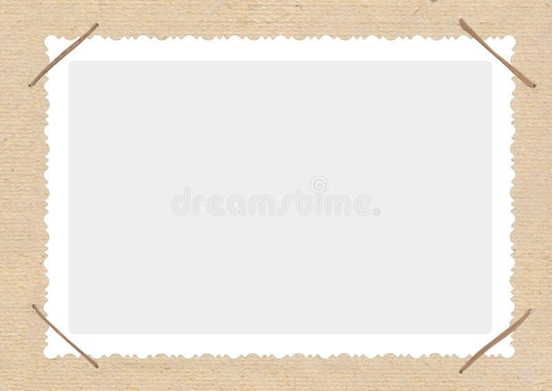 Het album van de foto met frame stock illustratie