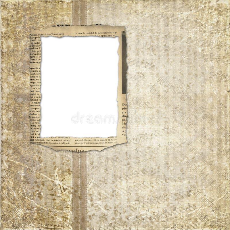 Het album van Grunge voor de foto stock illustratie