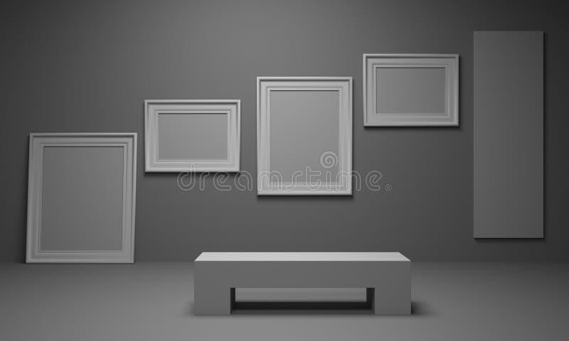 Het Album van het beeld. Tentoonstelling van art. vector illustratie