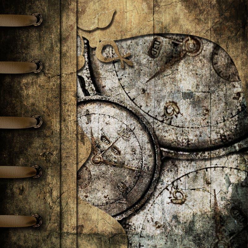 Het albumdekking van Grunge vector illustratie