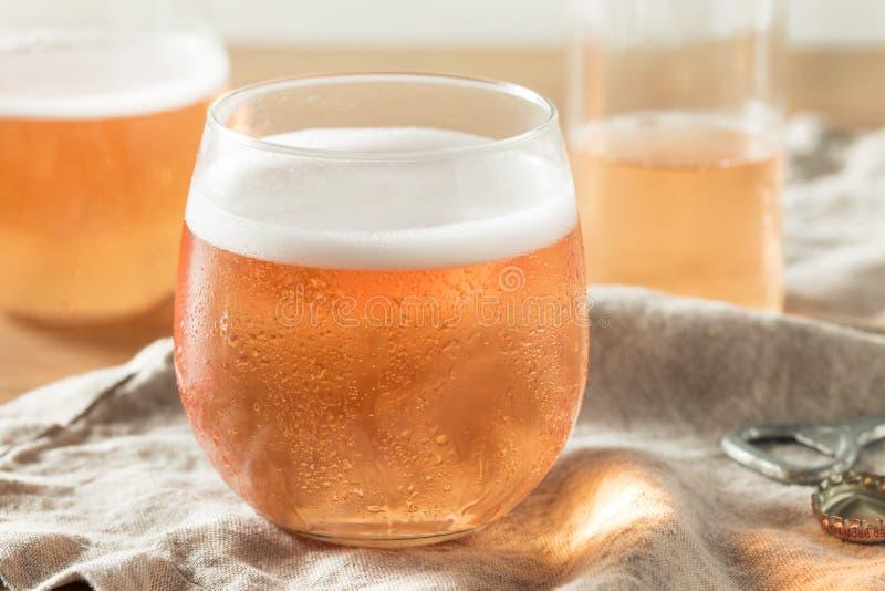 Het alcoholische Fonkelen Rose Cider royalty-vrije stock afbeelding