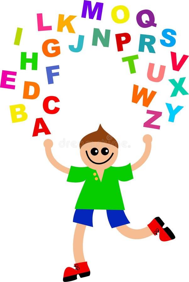 Het alfabet jongleert met royalty-vrije illustratie
