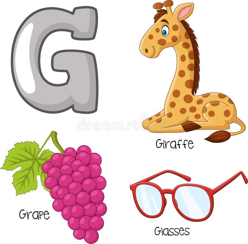 Het alfabet van beeldverhaalg royalty-vrije illustratie