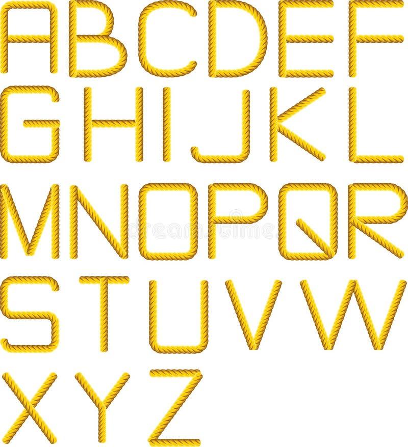 Het alfabet van de kabel vector illustratie
