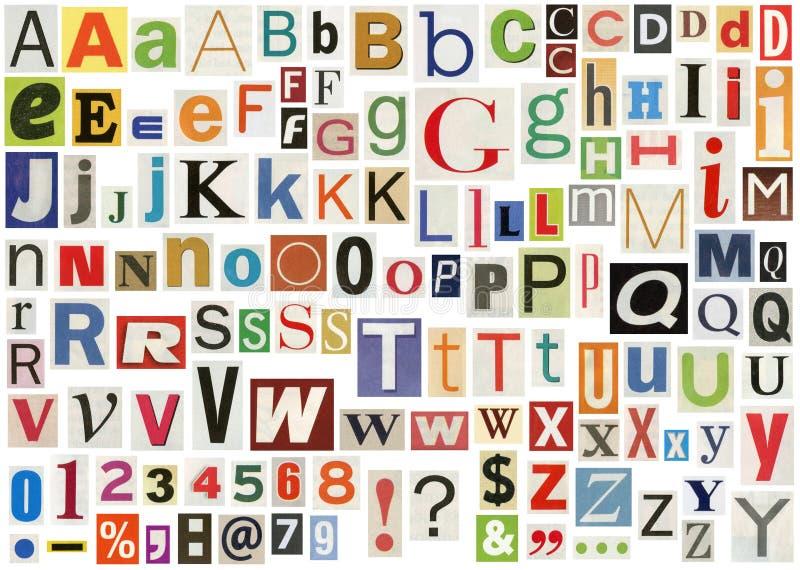 Het alfabet van de krant vector illustratie